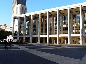 Film Society of Lincoln Center - Avery Fisher Hall, now called David Geffen Hall since September 2015, at Lincoln Center, where the Film Society annually held its Gala Tribute.