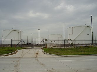Aviation fuel - Aviation fuel storage tanks at George Bush Intercontinental Airport, Houston, Texas