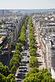 Avenue Kléber from the Arc de Triomphe, 2 August 2015.jpg