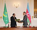 Azerbaijan-Mauritania documents signed, 2010 01.jpg