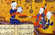Azerbaijani Mugam trio in XVI century miniature of Nizami Ganjavi's Khosrow and Shirin.jpg