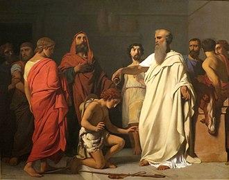 François-Léon Benouville - Image: Bénouville, Samuel sacrant David