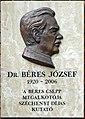 Béres József plaque Bp03 Keve41.jpg