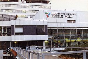 Pebble Mill Studios - The entrance in 1992