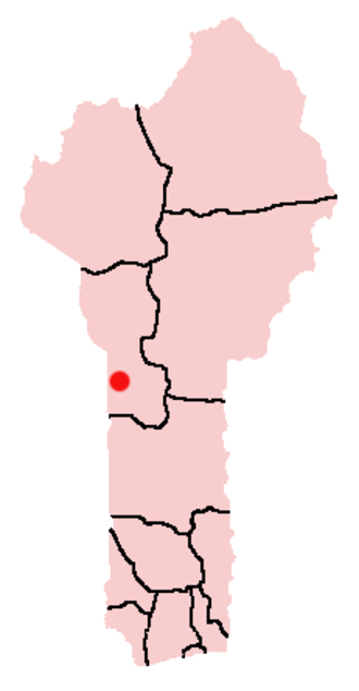 Alphonse Alley - Location of Bassila in Dahomey
