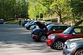 BMW Minis in parking lot of Deals Gap resort.jpg