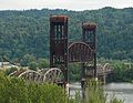 BNSF bridge 5.1 raised - oblique from south St Johns, crop.jpg