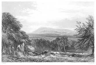 Mount Macedon, Victoria - 1.146 Mount Macedon, Victoria by Edwin Carton Booth (1873)