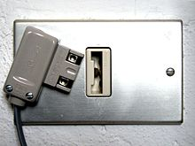 bticino telephone plug and socket