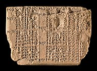 photograph of Babylonian clay tablet