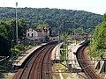 Bahnhof Camburg Saale Saalbahn in Thüringen Bahnsteige Stellwerk Gleiskörper Foto Wolfgang Pehlemann DSCN2460.jpg