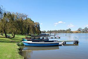 Lake Nagambie - Boats on Lake Nagambie