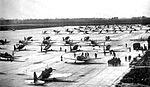 Bainbridge Army Airfield - Vultee BT-13 Valiants on Flight Line.jpg