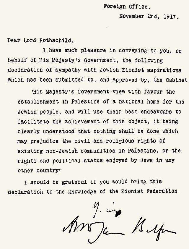 Declaración Balfour - Wikiwand