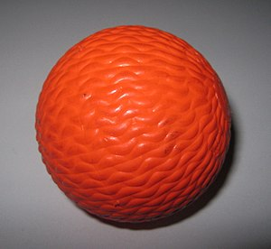 Orange (colour) - A bandy ball
