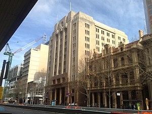 Savings Bank of South Australia - Former Savings Bank of SA and now BankSA head office on King William Street, Adelaide.