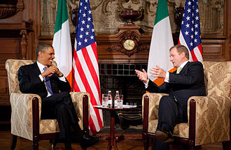Enda Kenny - Kenny with former U.S. President Barack Obama, May 2011