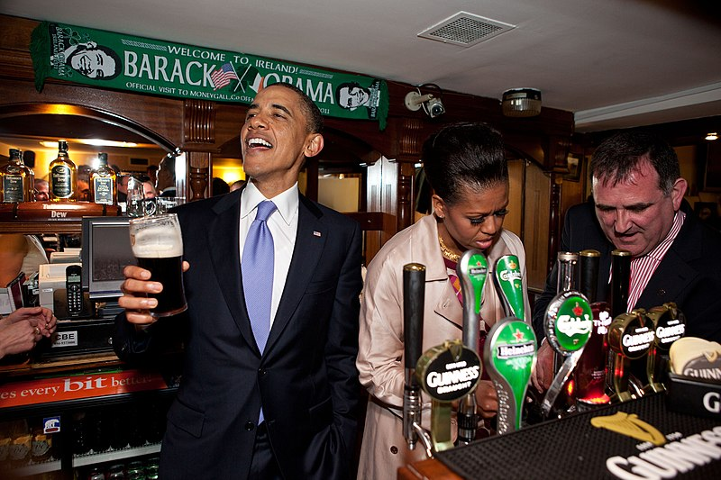File:Barack and Michelle Obama in Ollie Hayes Pub.jpg