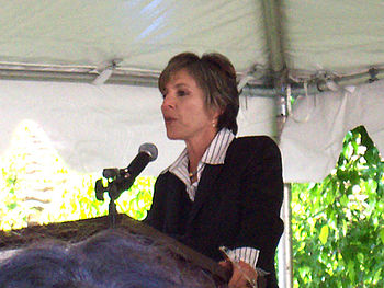 Boxer speaks at an event.