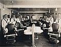 Barber shop at the US Naval Training Station, University of Washington, 1917-1918 (MOHAI 4394).jpg