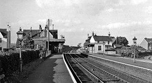 Barcombe Mills railway station - Barcombe Mills railway station in 1961