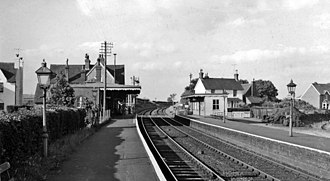 Barcombe Mills railway station - Barcombe Mills railway station in 1961