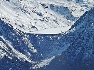 Bissorte Dam Dam in Valmeinier, Savoie