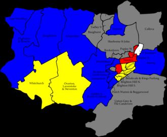 Basingstoke and Deane Borough Council elections - Image: Basingstoke and Deane 2006 election map