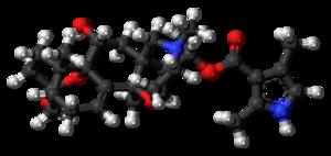 Batrachotoxin - Image: Batrachotoxin 3D balls 1