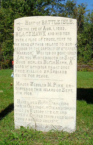 Battle of Bad Axe - Image: Battle isle marker