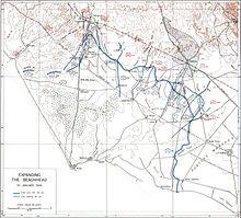 La battaglia di Cisterna raffigurata su una mappa dell'Esercito degli Stati Uniti