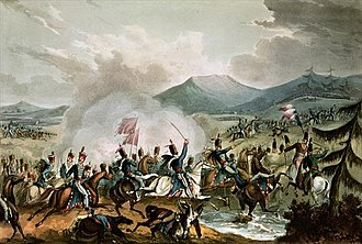 Battle of Morales - Battle of Morales, 2nd June, 1813: painted by William Heath, engraved by Thomas Sutherland (1785–1838)