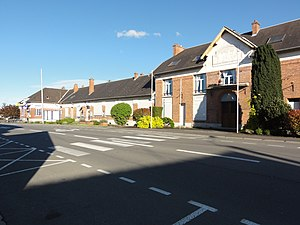 Beautor - The town hall and school of Beautor