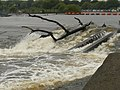 Beeston Weir in flood - geograph.org.uk - 1046983.jpg