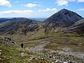Beinn Mhearsamail and Beinn a' Chaolais from west ridge of Beinn Shiantaidh - geograph.org.uk - 1453717.jpg