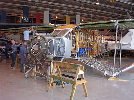 Bellanca Aircruiser under restoration at the Western Canada Aviation Museum, Winnipeg, 2006 - Bellanca Aircruiser