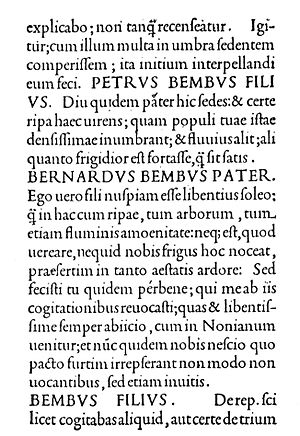 Bembo - Text sample from De Aetna