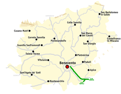 Map of the Province of Benevento