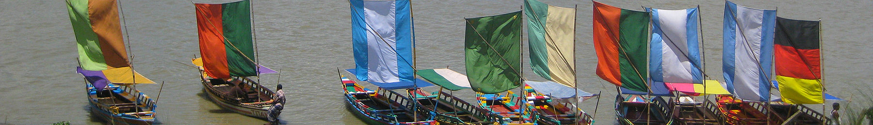 Sailboats in the Brahmaputra River