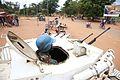 Beni, Nord-Kivu, RD Congo, 03 décembre 2014 - Un Casque bleu à bord d'un véhicule blindé, assurant la protection des civils dans le centre-ville de Beni. (15907515987).jpg
