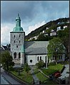 Bergen Cathedral, (Bergen domkirke) a cathedral in Bergen, Hordaland county, on a sunny summer's day, June 2015. Peter Neaum. - panoramio.jpg