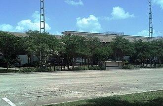 Bernie Moore Track Stadium - Image: Bernie Moore Track Stadium Exterior Home Grandstand