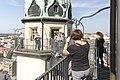 Besucher auf den Hausmannstürmen in Halle an der Saale - Altstadt Marktkirche - panoramio.jpg