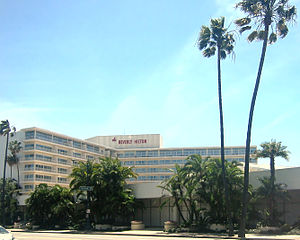 The Beverly Hilton - The Beverly Hilton as seen from Wilshire Boulevard