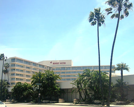 The Beverly Hilton Hotel, where Houston's body was found BeverlyHilton03.jpg