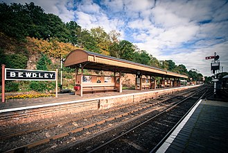 Bewdley - Bewdley Station, now restored as part of the Severn Valley Railway