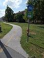 Bicycle path, Route 8, 2017 Várpalota.jpg