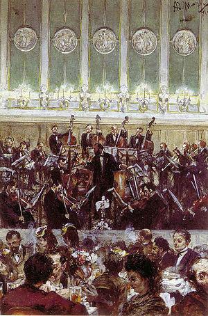 Benjamin Bilse - Adolph Menzel: Bilsekonzert, 1871