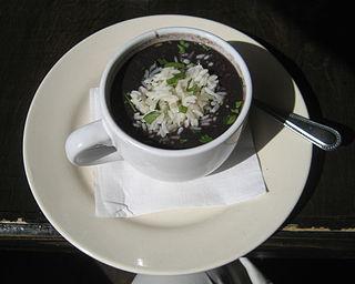Black bean soup Type of seasoned soup