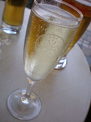 A glass of sparkling wine from the Limoux regi...
